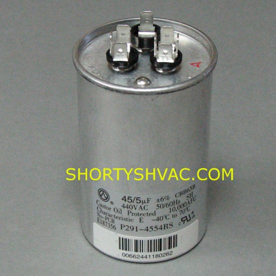 Carrier Dual Run Capacitor P291-4554RS