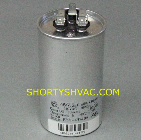 Carrier Dual Run Capacitor P291-4574RS