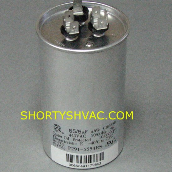 Carrier Dual Run Capacitor P291-5554RS