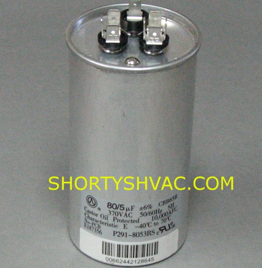 Carrier Dual Run Capacitor P291-8053RS
