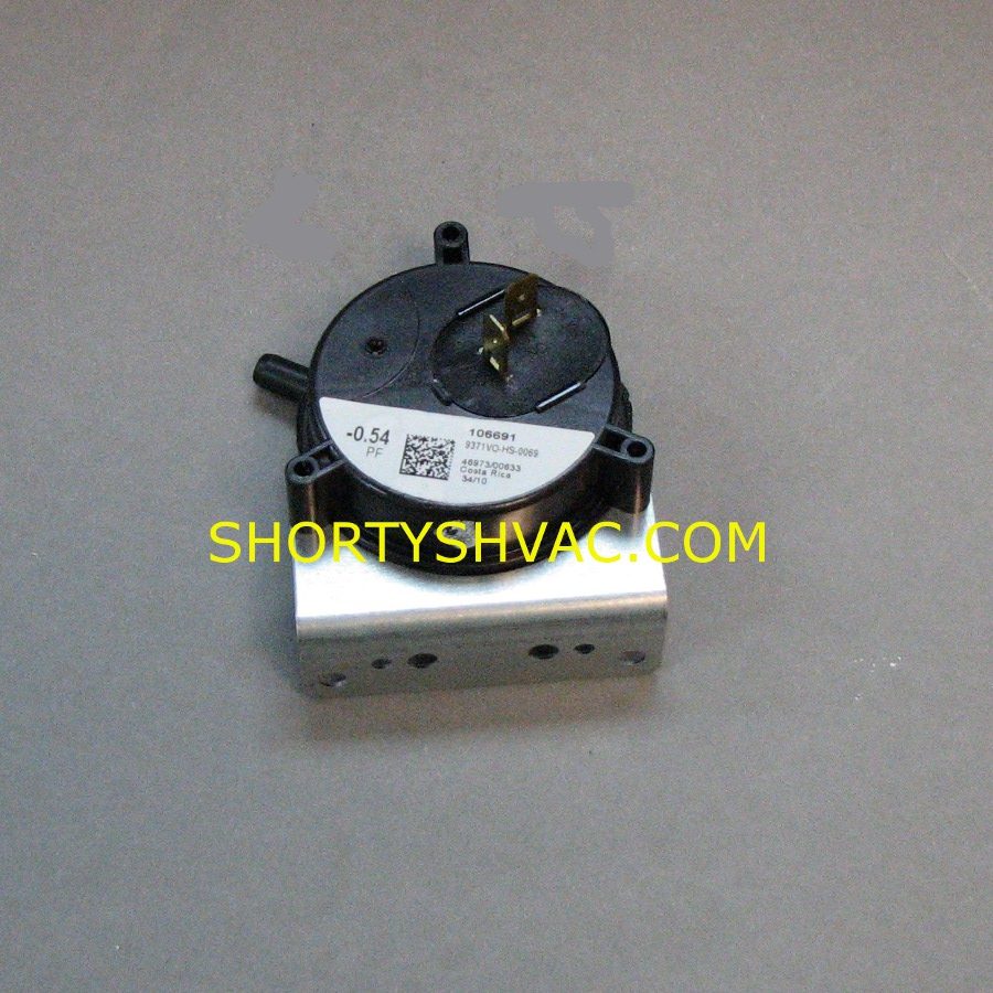 Honeywell Draft Pressure Switch Model 9371VO-HS-0069