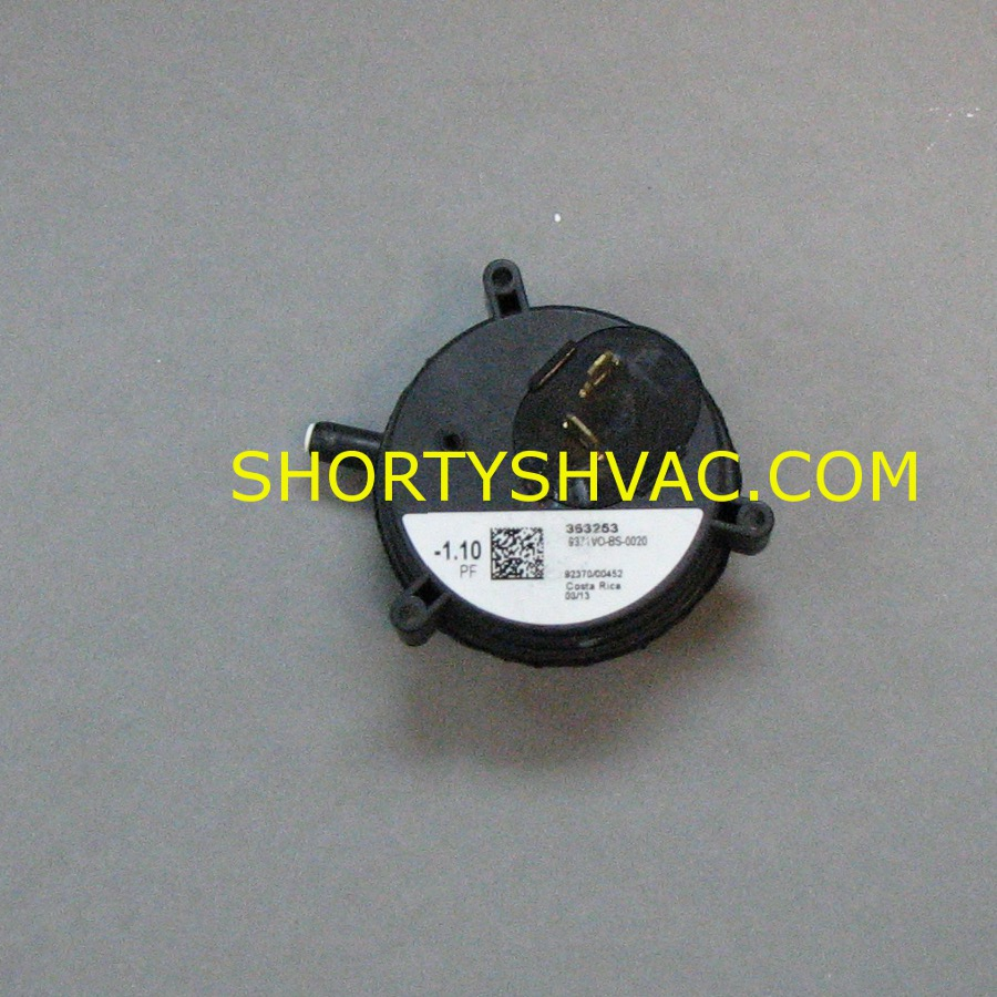 Honeywell Draft Pressure Switch Model 9371VO-BS-0020