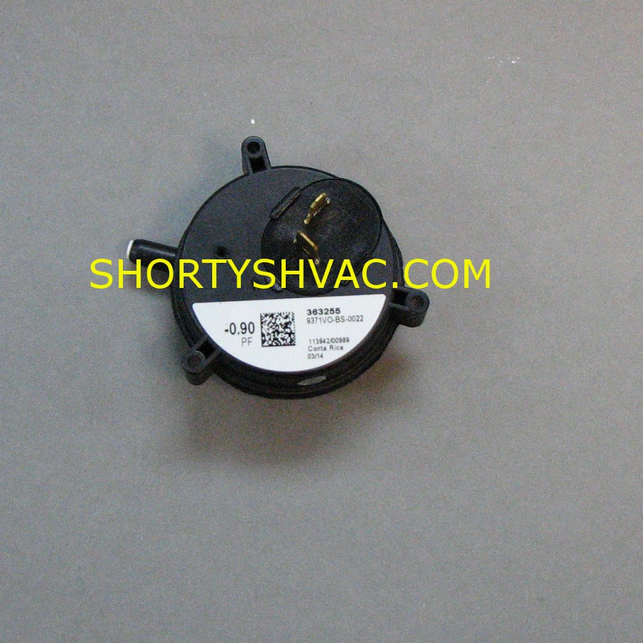 Honeywell Draft Pressure Switch Model 9371VO-BS-0022