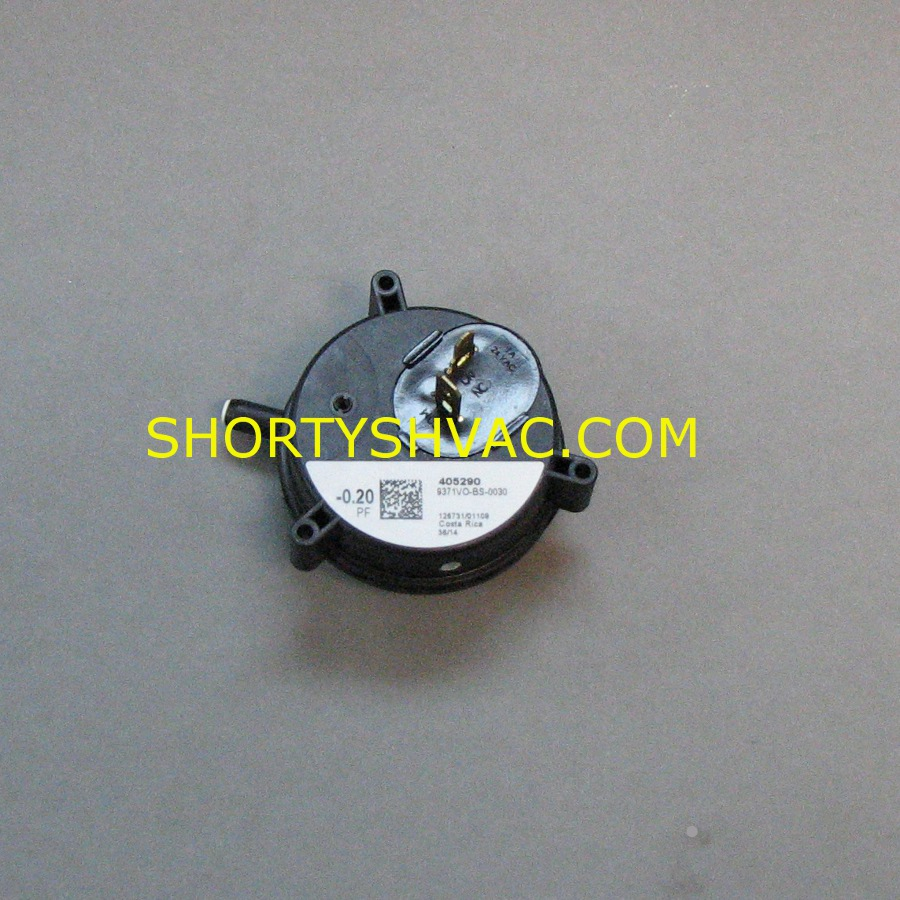 Honeywell Draft Pressure Switch Model 9371VO-BS-0030