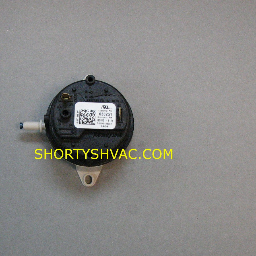 Honeywell Draft Pressure Switch Model IS20101-6124